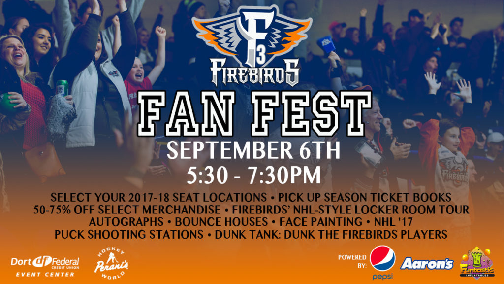 Firebirds Fan Fest - September 6th from 5:30 to 7:30pm